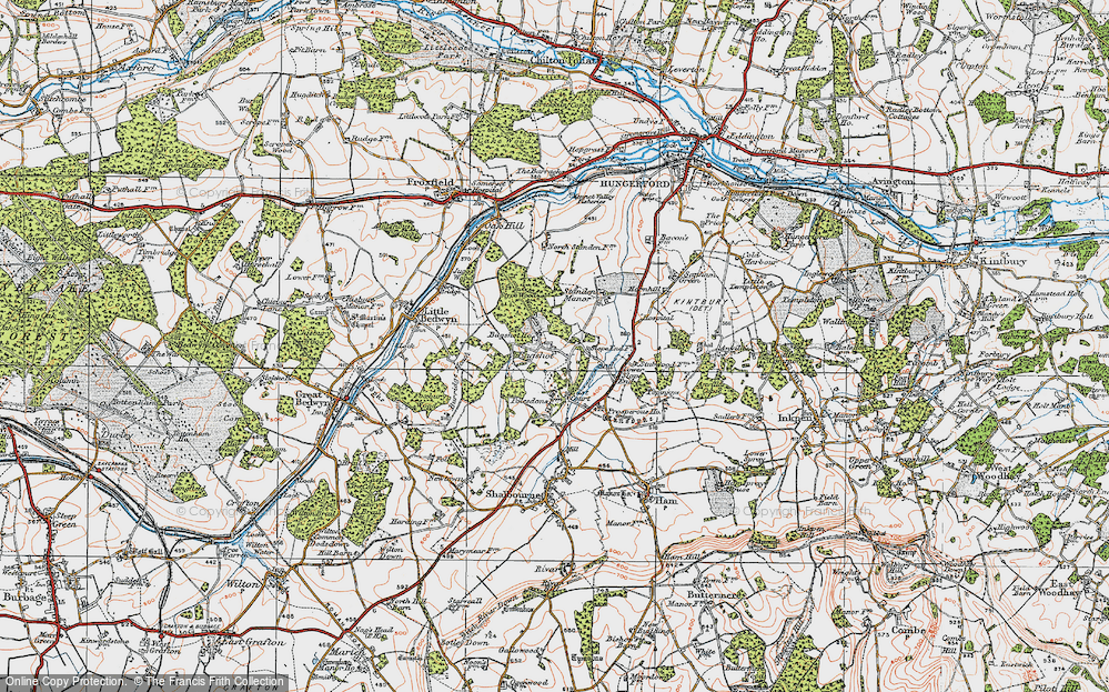 Old Map of Bagshot, 1919 in 1919