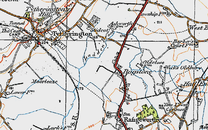 Old map of Bagstone in 1919