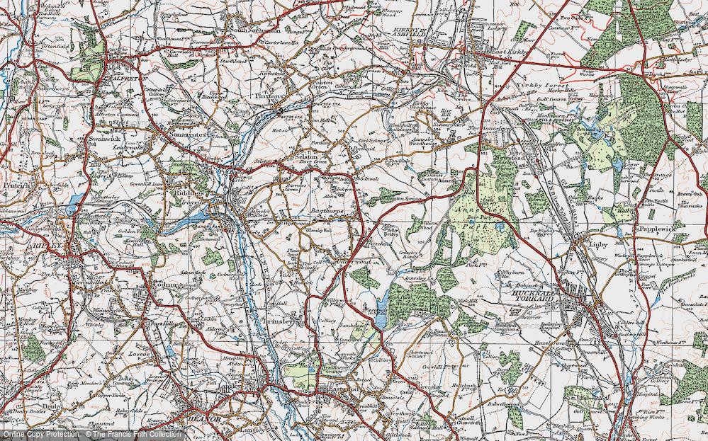 Old Map of Bagthorpe, 1921 in 1921