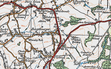 Old map of Bagthorpe in 1921