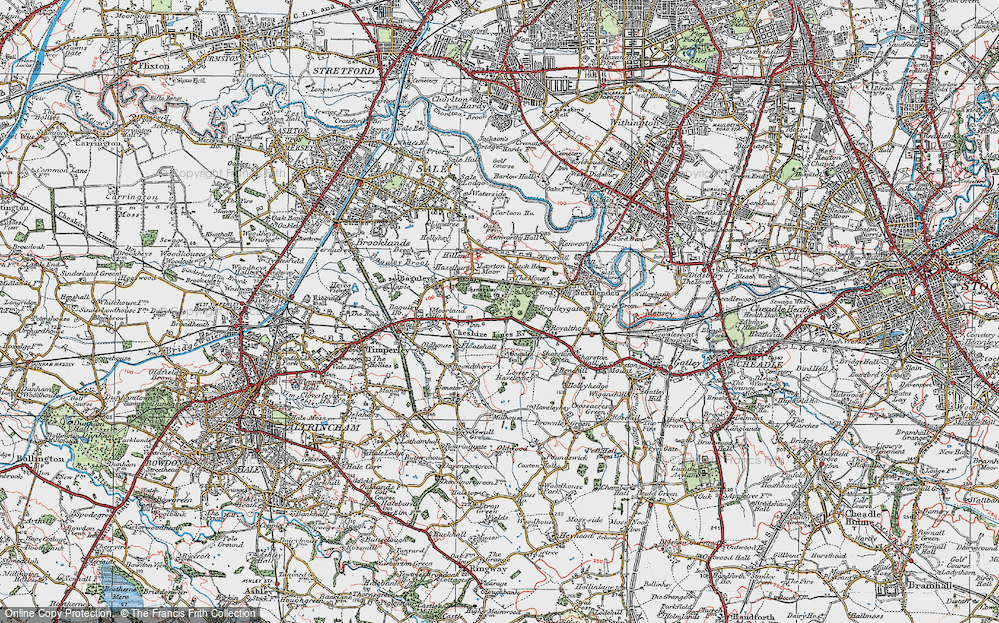 Old Map of Baguley, 1923 in 1923