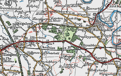 Old map of Baguley in 1923