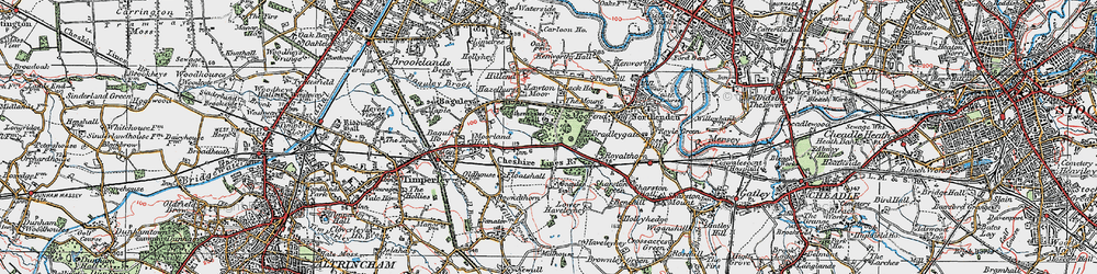 Old map of Wythenshawe Hall in 1923