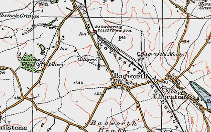Old map of Bagworth in 1921