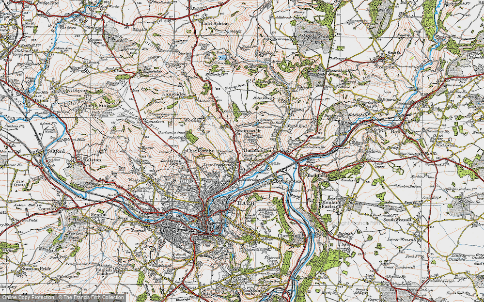 Old Map of Bailbrook, 1919 in 1919