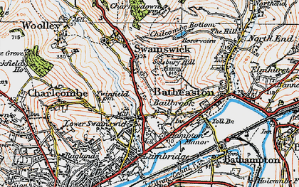 Old map of Bailbrook in 1919