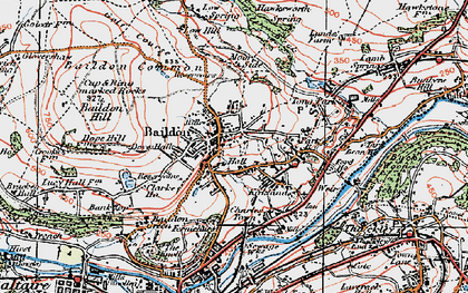 Old map of Baildon in 1925