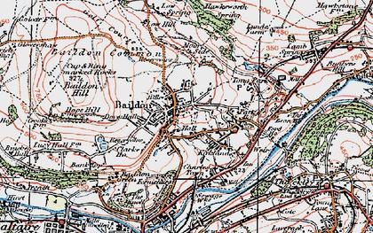 Old map of Baildon Moor in 1925