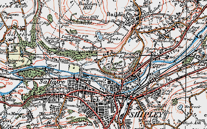 Old map of Baildon Green in 1925
