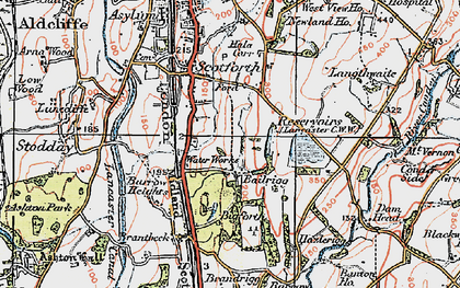 Old map of Bailrigg in 1924