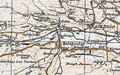 Old map of Bainbridge in 1925