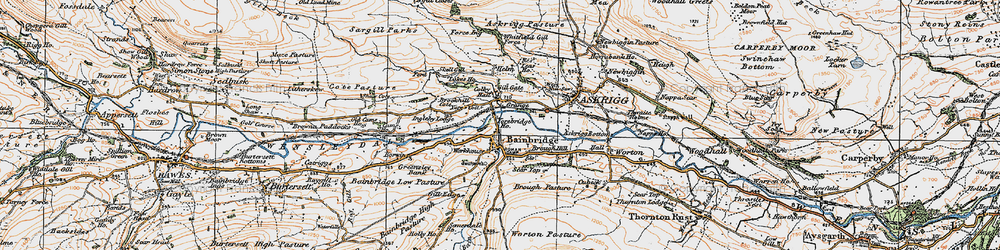 Old map of Yorebridge Ho in 1925