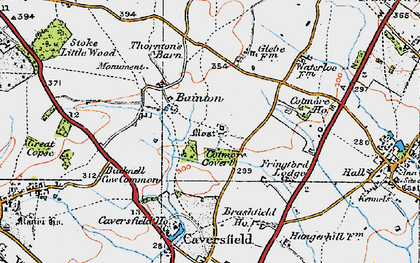 Old map of Bainton in 1919
