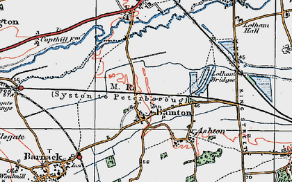 Old map of Bainton in 1922