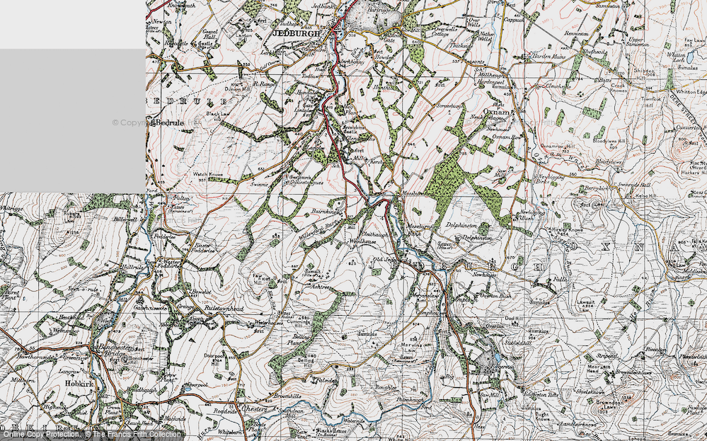 Old Map of Historic Map covering Ashtrees in 1926