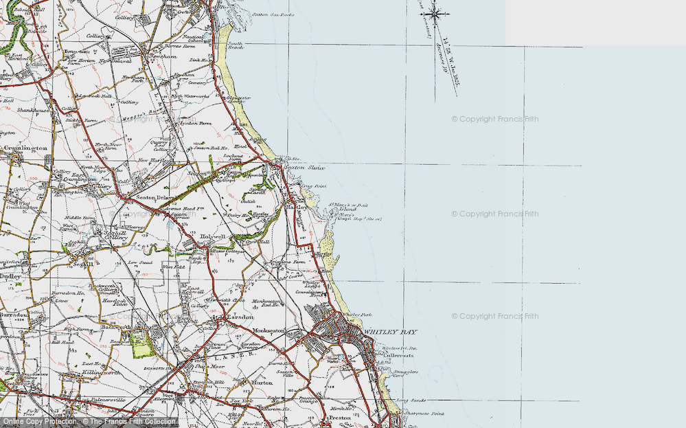 Old Map of Bait Island, 1925 in 1925