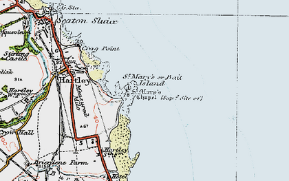 Old map of Bait Island in 1925