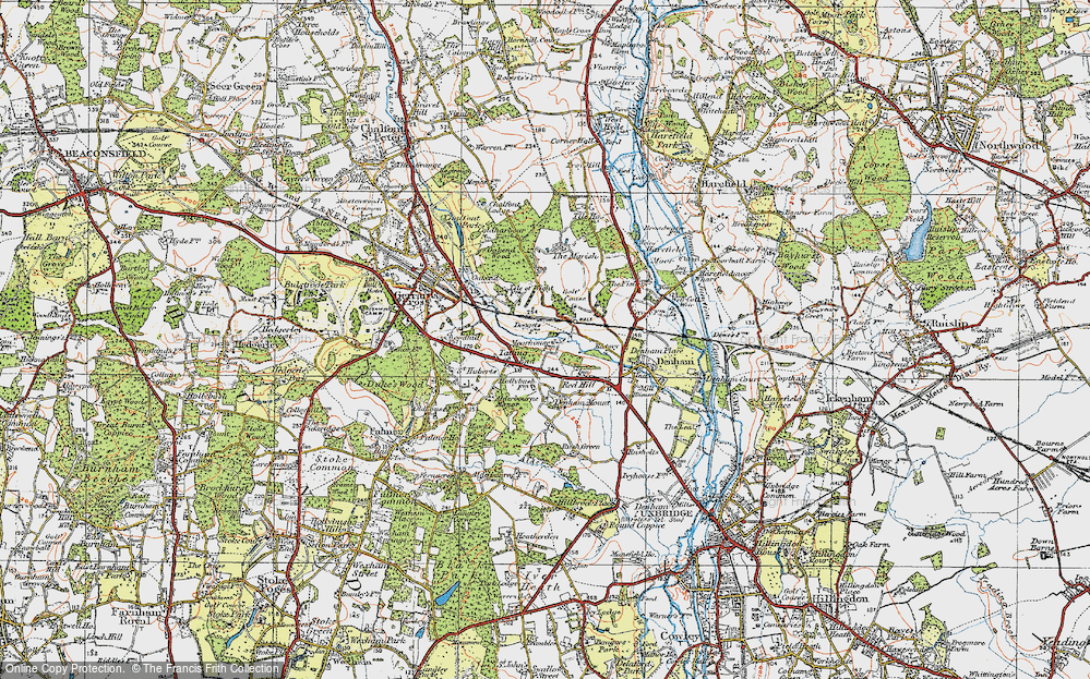 Old Map of Baker's Wood, 1920 in 1920