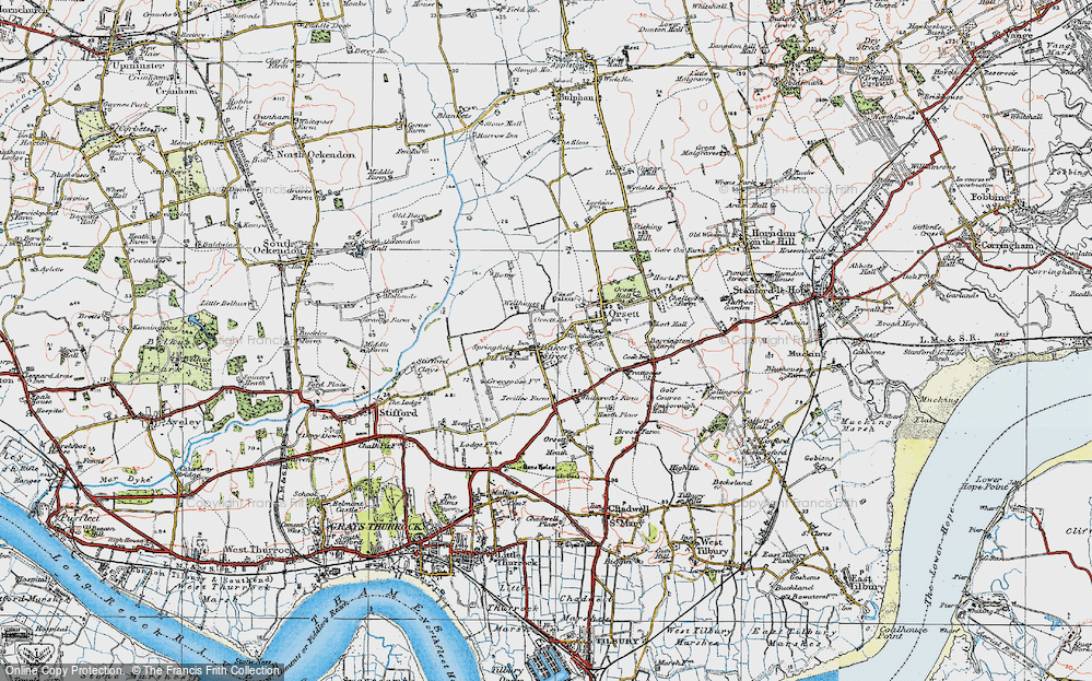 Old Map of Baker Street, 1920 in 1920