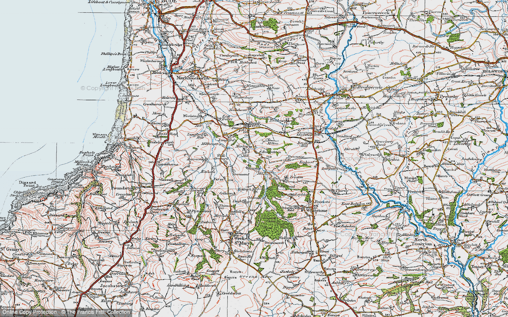 Old Map of Bakesdown, 1919 in 1919