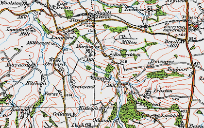 Old map of Bakesdown in 1919