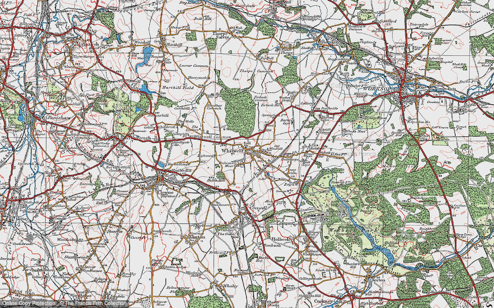 Old Map of Bakestone Moor, 1923 in 1923