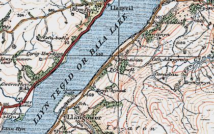 Old map of Bala Lake Railway in 1921