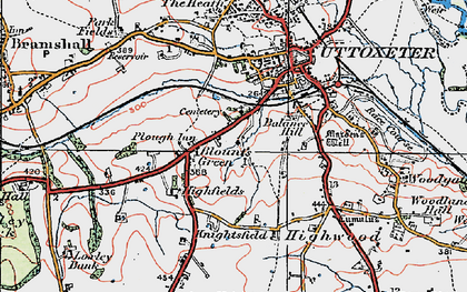 Old map of Balance Hill in 1921