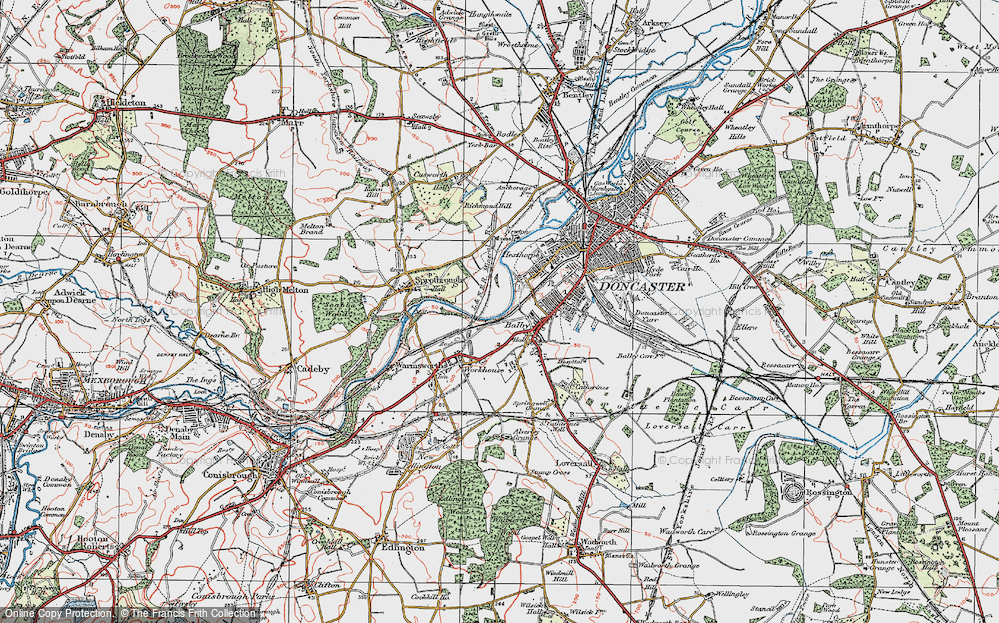 Old Map of Balby, 1923 in 1923