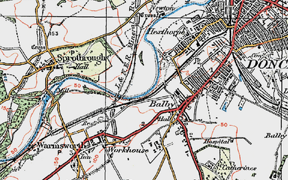 Old map of Balby in 1923