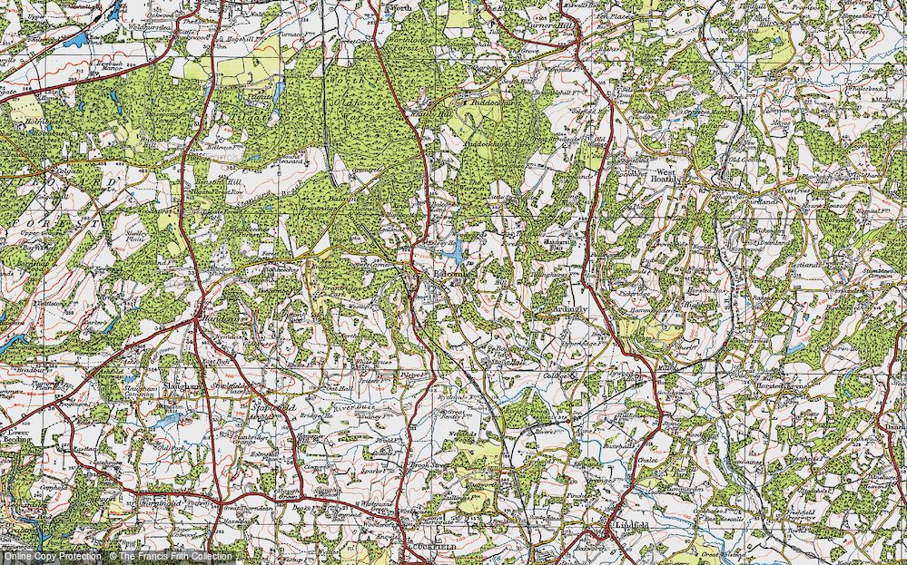 Old Map of Balcombe, 1920 in 1920