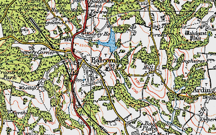 Old map of Balcombe in 1920