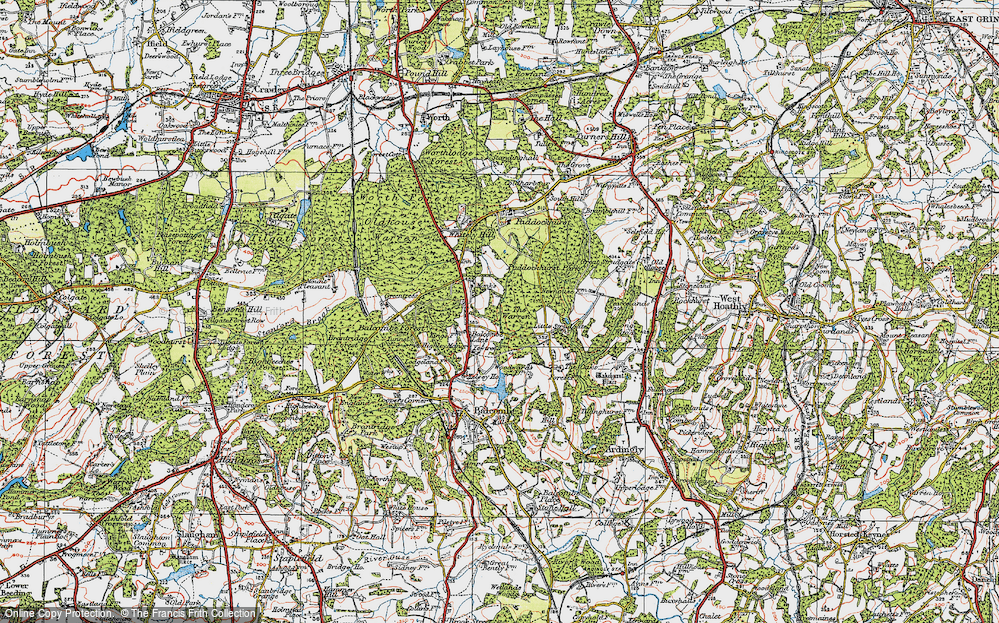Old Map of Historic Map covering Balcombe Forest in 1920
