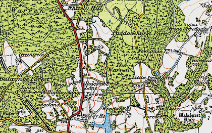 Old map of Balcombe Forest in 1920