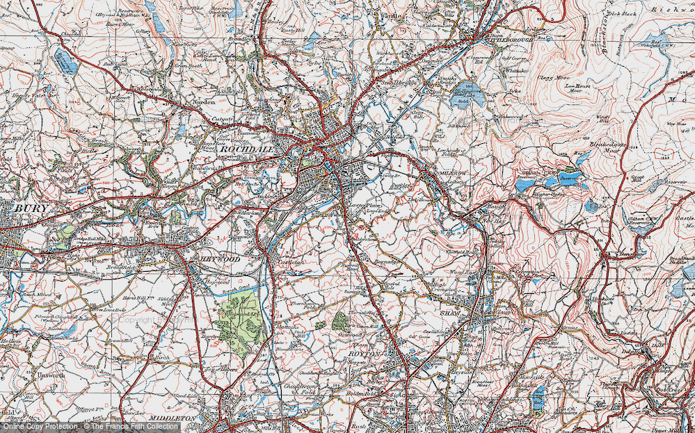 Old Map of Balderstone, 1924 in 1924