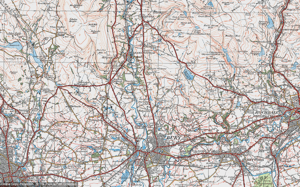 Old Map of Baldingstone, 1924 in 1924