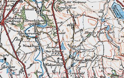 Old map of Baldingstone in 1924