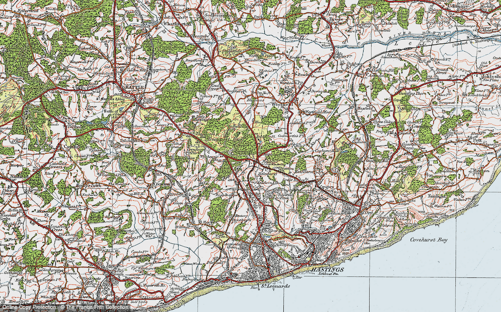 Old Map of Baldslow, 1921 in 1921