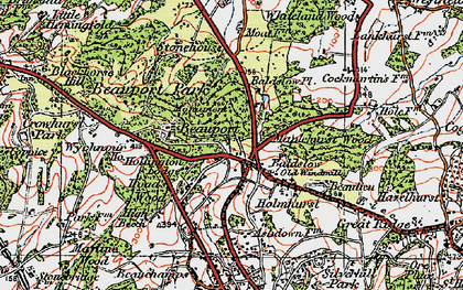 Old map of Baldslow in 1921