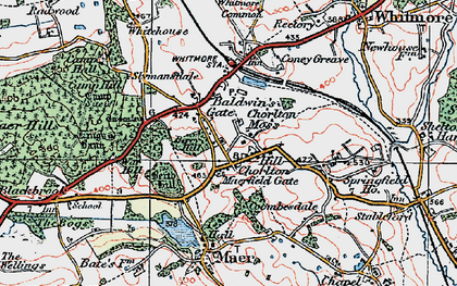 Old map of Baldwin's Gate in 1921