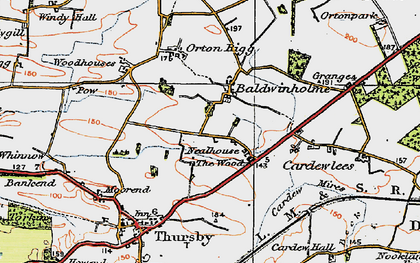 Old map of Baldwinholme in 1925