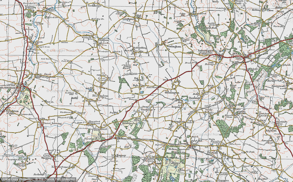 Old Map of Bale, 1921 in 1921