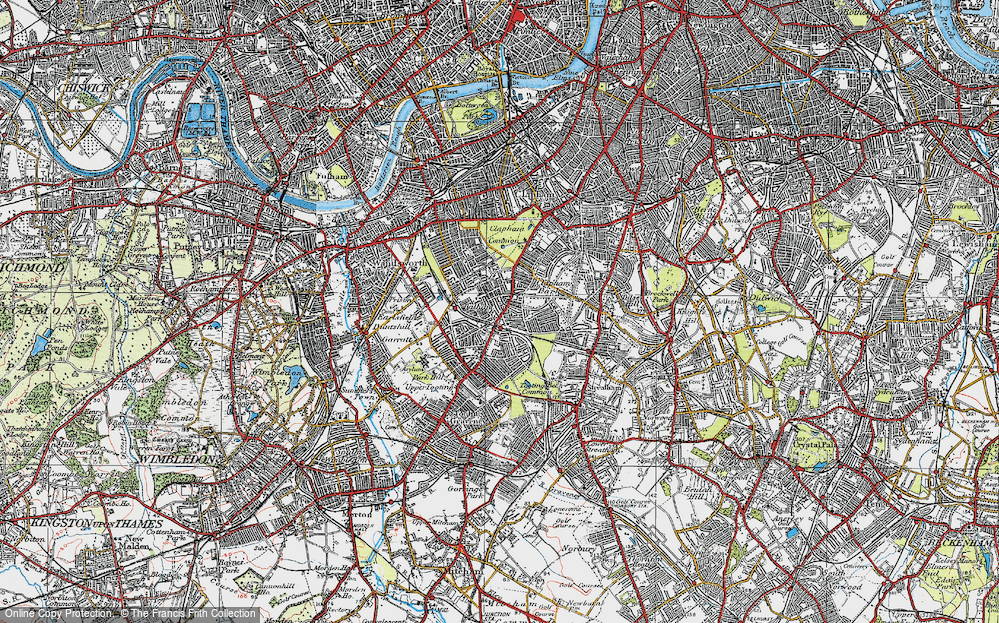 Old Map of Balham, 1920 in 1920