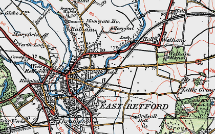 Old map of Balk Field in 1923