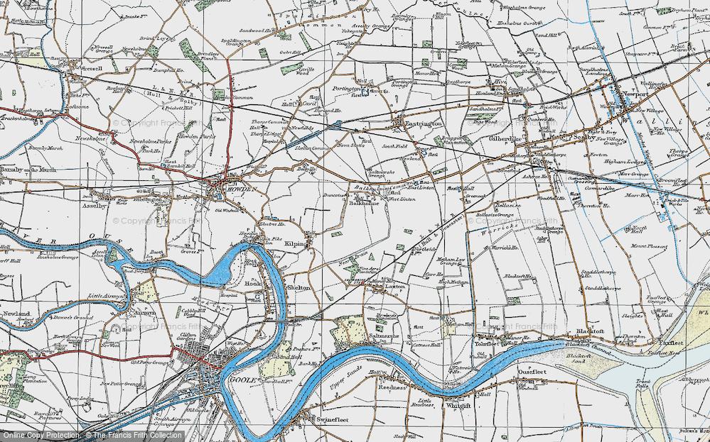 Old Map of Balkholme, 1924 in 1924