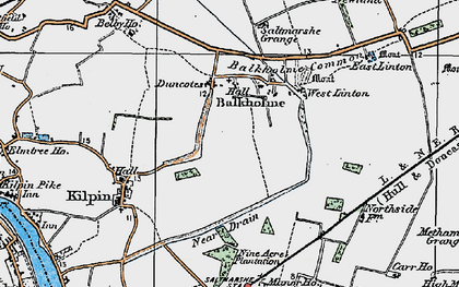 Old map of Balkholme in 1924