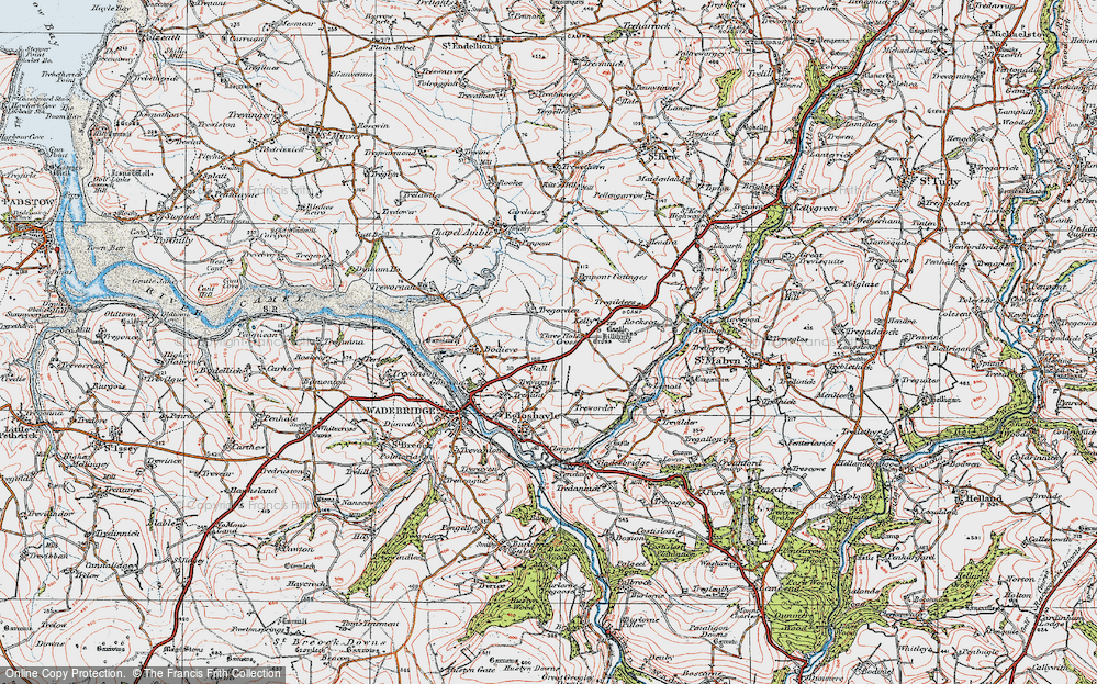 Old Map of Ball, 1919 in 1919