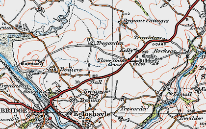 Old map of Ball in 1919