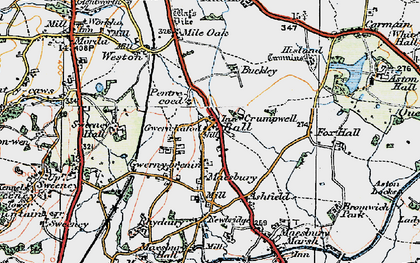 Old map of Ball in 1921
