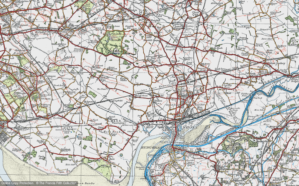 Old Map of Ball o' Ditton, 1923 in 1923